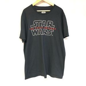 Star Wars the force awakens black graphic shirt XL